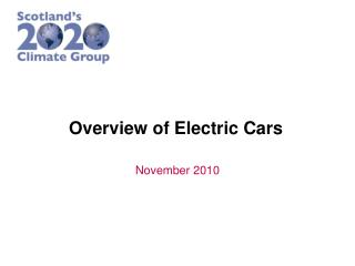 Overview of Electric Cars