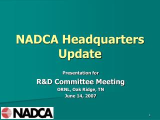NADCA Headquarters  Update
