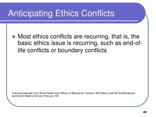 Anticipating Ethics Conflicts