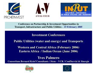 Investment Conferences Public Utilities (water and energy) and Transports