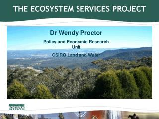 THE ECOSYSTEM SERVICES PROJECT