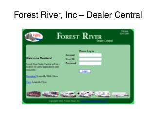 Forest River, Inc – Dealer Central