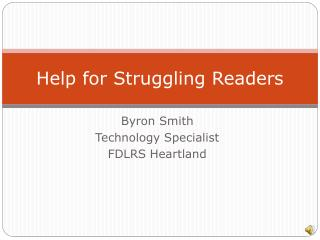 Help for Struggling Readers