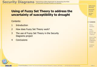 Using of Fuzzy Set Theory to address the uncertainty of susceptibility to drought
