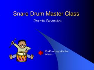 Snare Drum Master Class