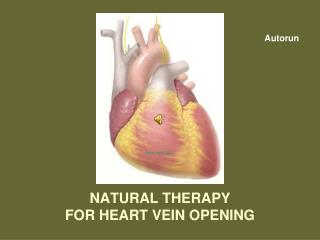 NATURAL THERAPY  FOR HEART VEIN OPENING