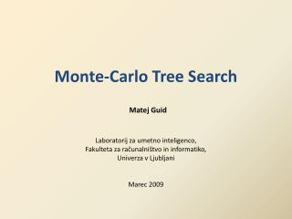 Monte-Carlo Tree Search