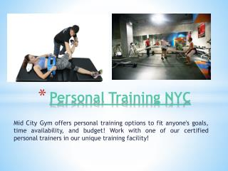 NYC Personal Trainer