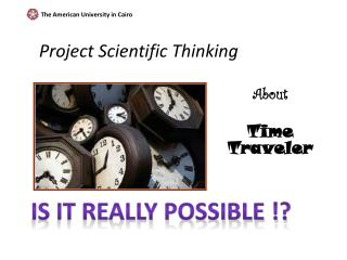 Project Scientific Thinking