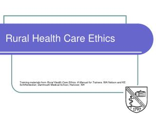 Rural Health Care Ethics