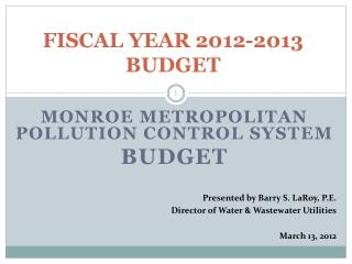 FISCAL YEAR 2012-2013 BUDGET
