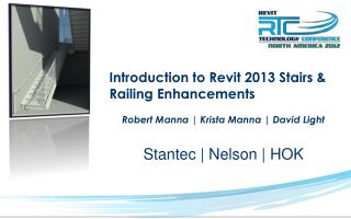 Introduction to Revit 2013 Stairs & Railing Enhancements