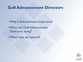 Go8 Advancement Directors