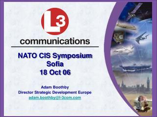 NATO CIS Symposium Sofia 18 Oct 06