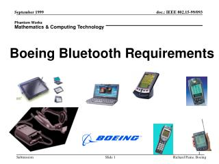 Boeing Bluetooth Requirements