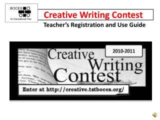 Creative writing services ppt presentation