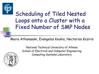 Scheduling of Tiled Nested Loops onto a Cluster with a Fixed Number of SMP Nodes
