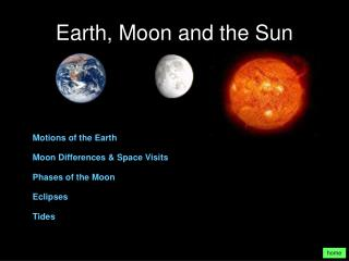 Earth, Moon and the Sun