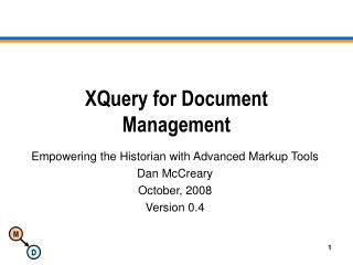 XQuery for Document Management