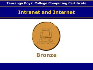 Intranet and Internet