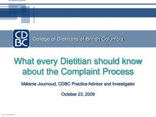 College of Dietitians of British Columbia