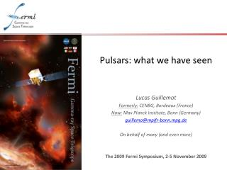 Pulsars: what we have seen