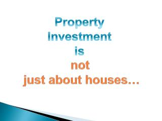 Property Investment is