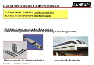 2. Linear motors compared to other technologies