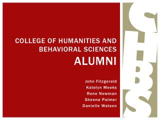 College of humanities and behavioral sciences  alumni