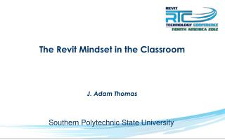 The Revit Mindset in the Classroom