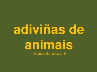 adiviñas de animais