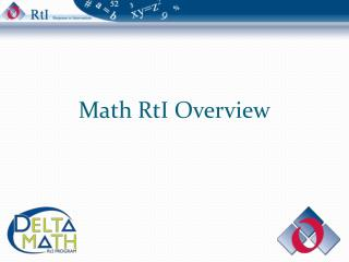 Math RtI Overview