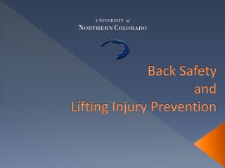 Back Safety  and  Lifting Injury Prevention