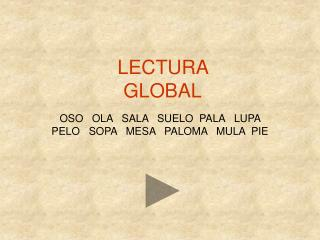 LECTURA GLOBAL