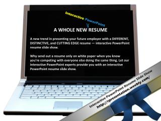 Interactive PowerPoint Resume Slide Show  rpresentation.weebly/