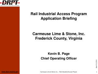 Rail Industrial Access Program Application Briefing