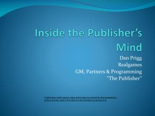 Inside the Publisher's Mind