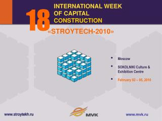 INTERNATIONAL WEEK OF CAPITAL  CONSTRUCTION