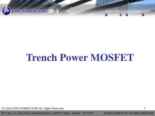 Trench Power MOSFET