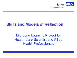Skills and Models of Reflection