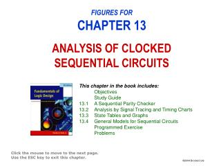 FIGURES FOR CHAPTER 13 ANALYSIS OF CLOCKED SEQUENTIAL CIRCUITS