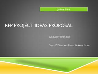 RFP Project Ideas Proposal