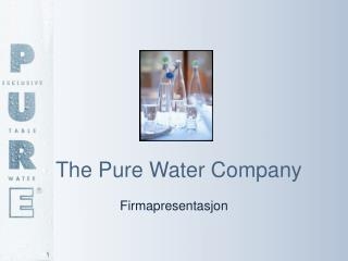 The Pure Water Company