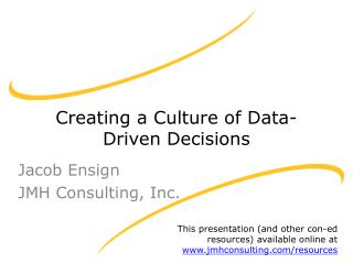 Creating a Culture of Data-Driven Decisions