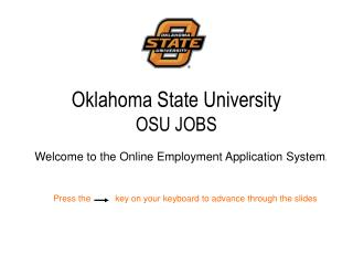 Oklahoma State University OSU JOBS