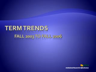 Term Trends  Fall 2003 to Fall 2006