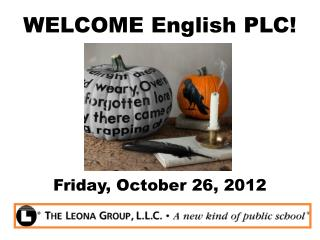 WELCOME English PLC!
