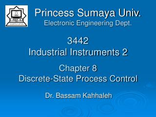 3442 Industrial Instruments 2 Chapter 8 Discrete-State Process Control