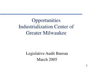 Opportunities Industrialization Center of Greater Milwaukee
