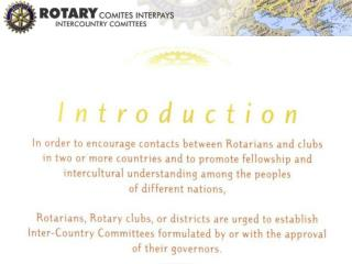 Intercountry committees promote contact between districts